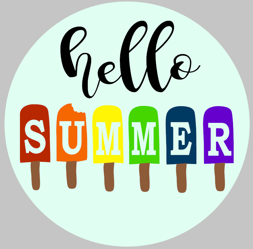 Round Hello Summer