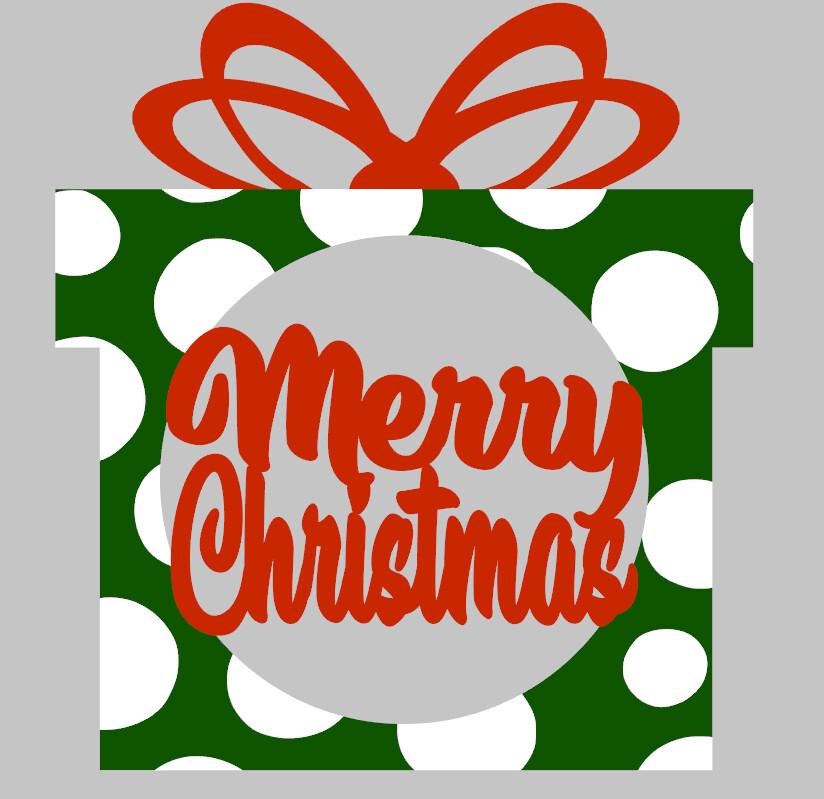 Merry Christmas Present Door Hanger