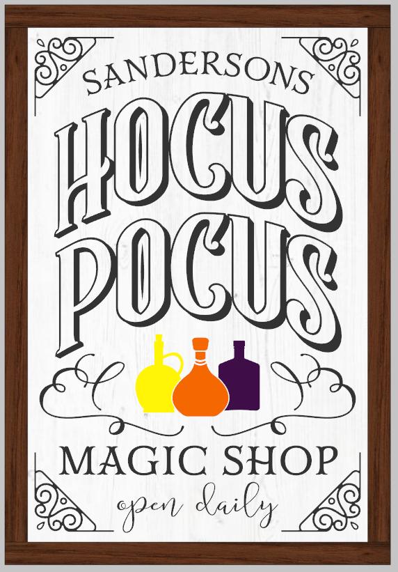 Sanderson Hocus Pocus Magic Shop