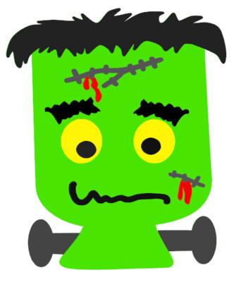 Frankenstein Halloween Wood Door Hanger