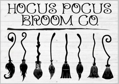 Hocus Pocus Broom Co with 3D Brooms