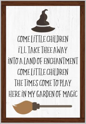 Come Little Children Framed Sign Hocus Pocus