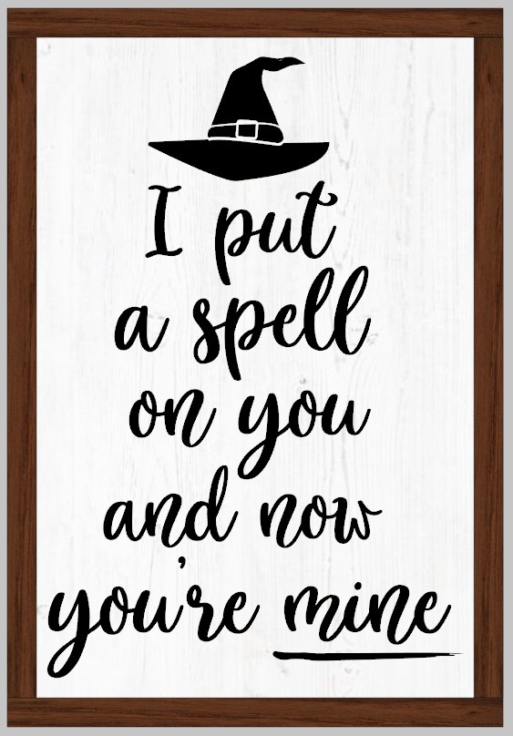 I put a Spell on You Framed Sign Hocus Pocus