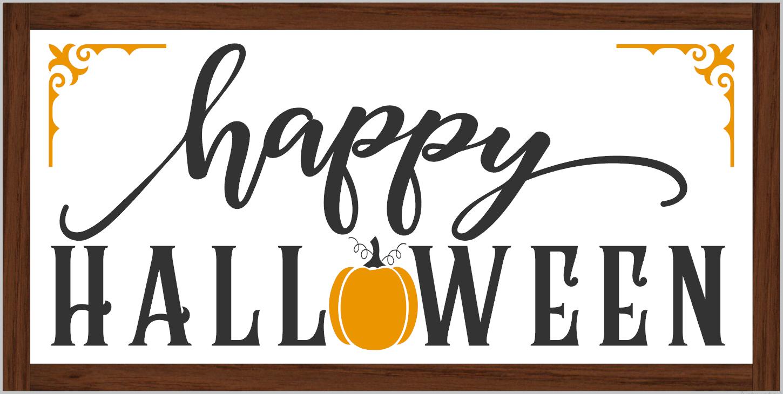 Happy Halloween (framed)