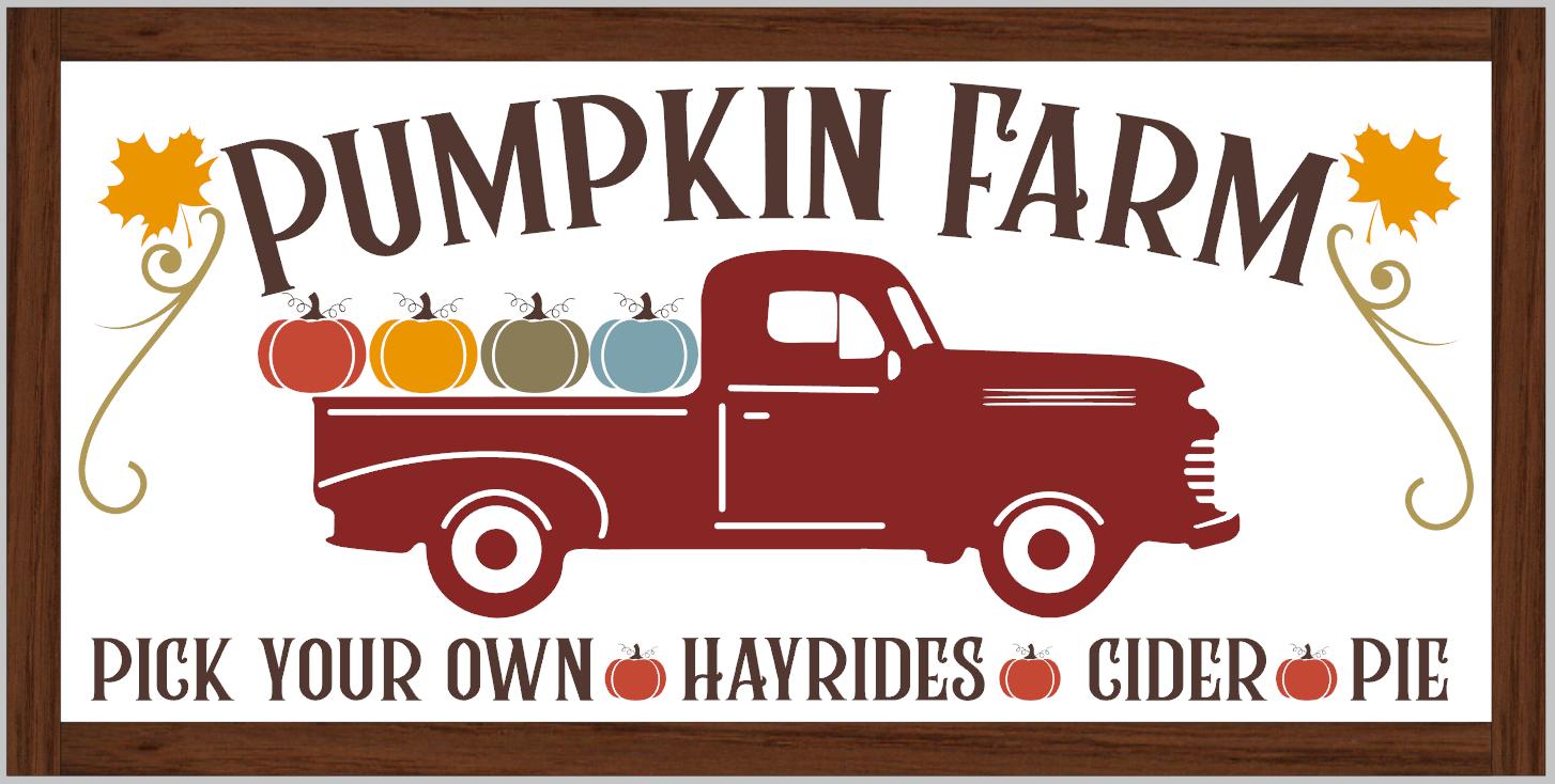 Pumpkin Farm (framed)