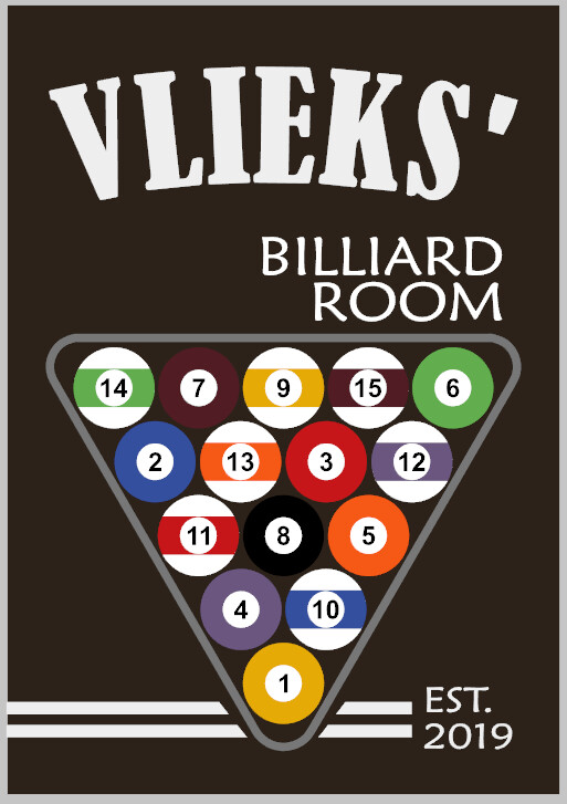 Personalized Billiard's Room Pool
