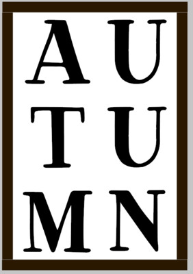 Autumn Subway Word (framed)