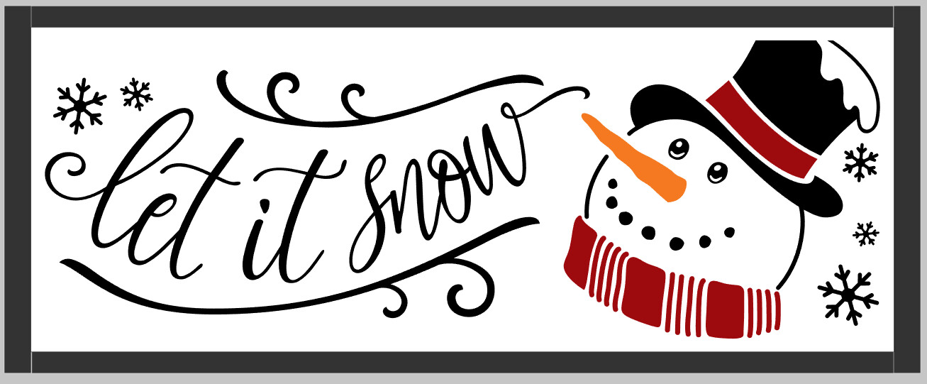 Let it Snow Snowman (framed)