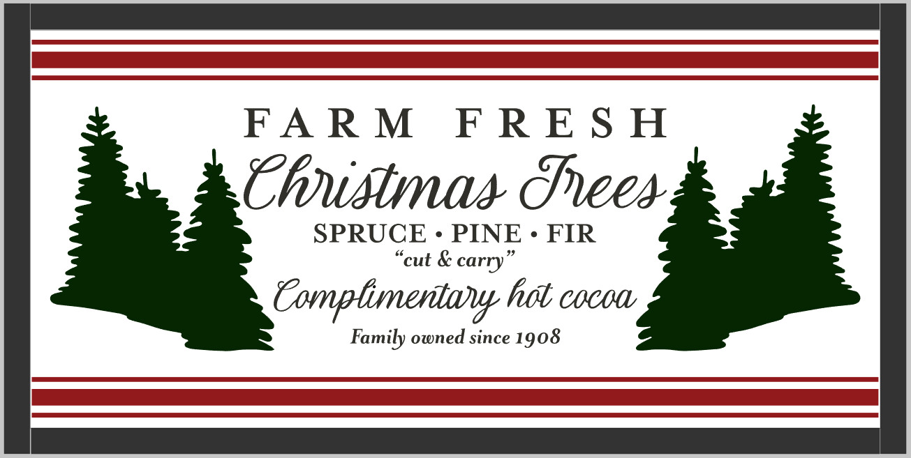 Farm Fresh Christmas Trees (framed)