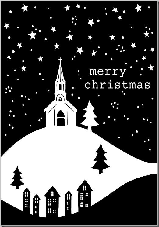 Merry Christmas Church on Hilltop