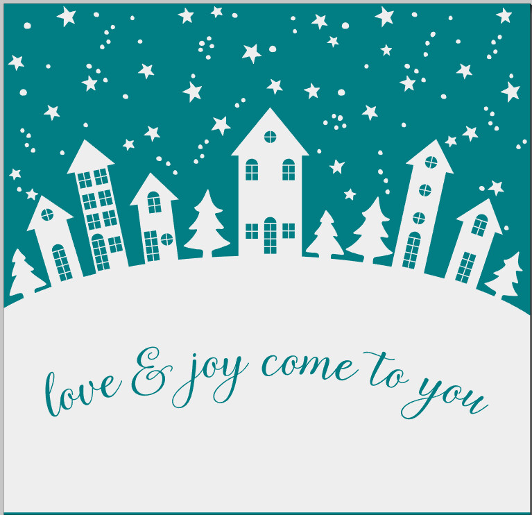 Love & Joy come to you winter Christmas holiday