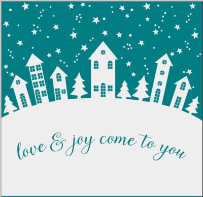 Love & Joy come to you winter Christmas holiday