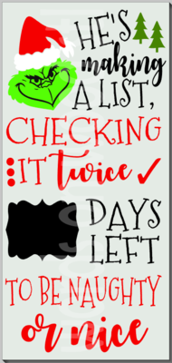 Grinch Making a List Christmas Countdown
