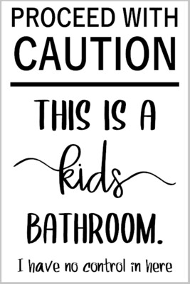 CAUTION this is a kids Bathroom Framed