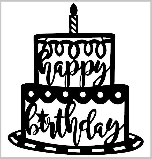 Happy Birthday Cake Door Hanger
