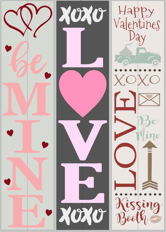 Valentine Porch Signs