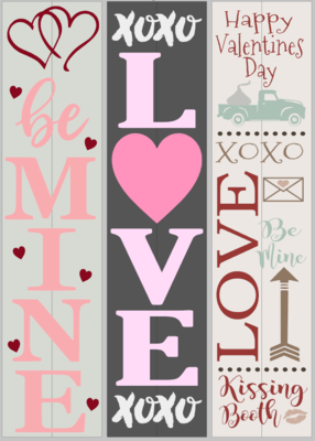Valentine Porch Signs