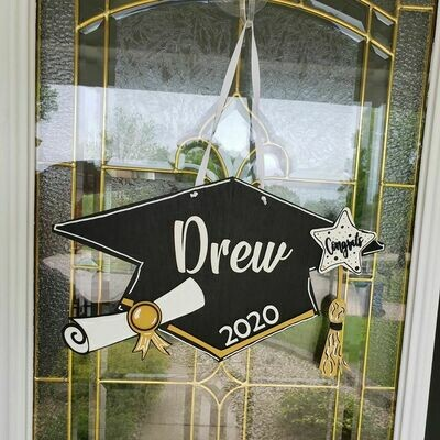 Graduation Cap Door Hanger