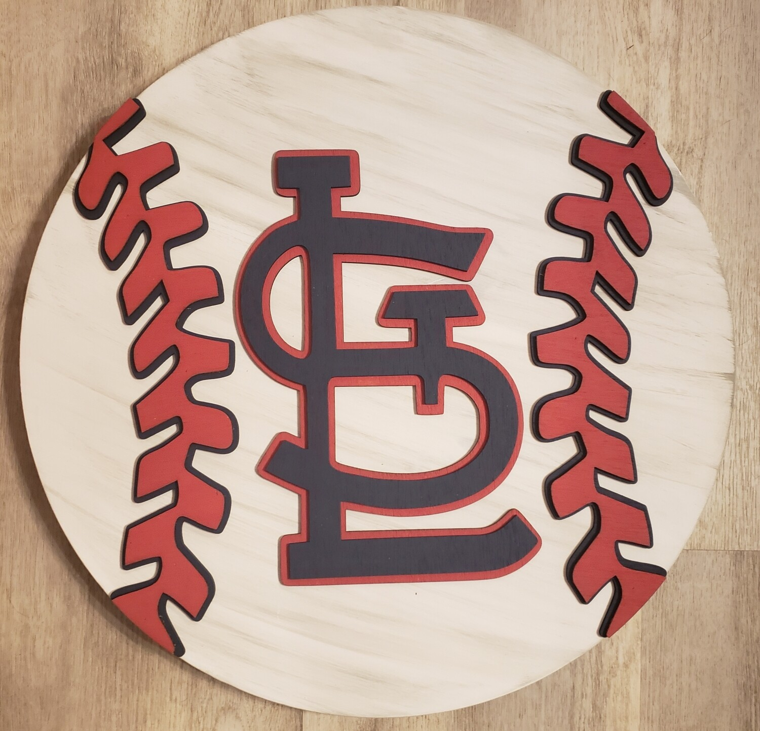 "StL 3D 18"" Round Wood Sign"