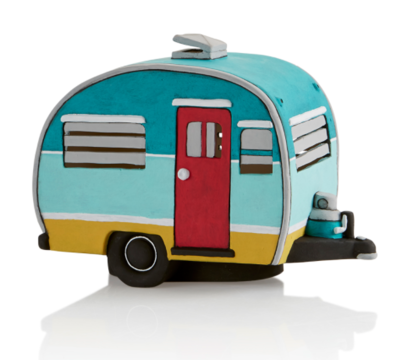 Ceramic Vintage Camper Light-Up