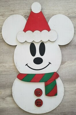 Snowman Mouse Inspired Door Hanger