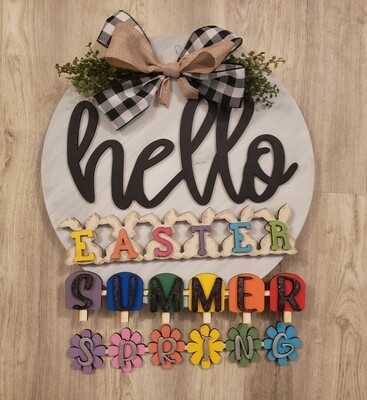 Round 3D Hello Interchangeable Door Hanger