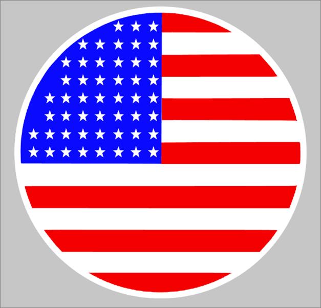 Round America Flag