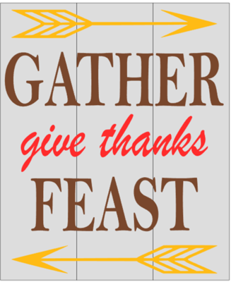 Gather, give thanks, Feast