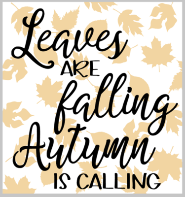 Leaves are Falling...