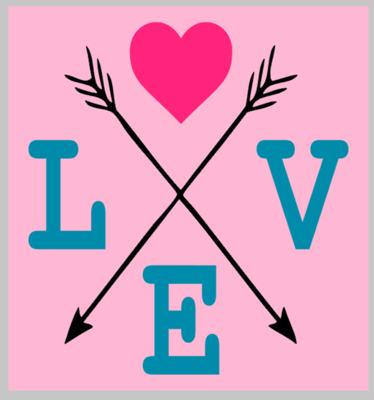 LOVE arrow