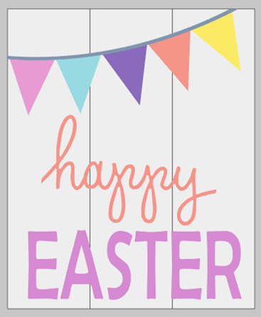 Happy Easter with 3D Banner option