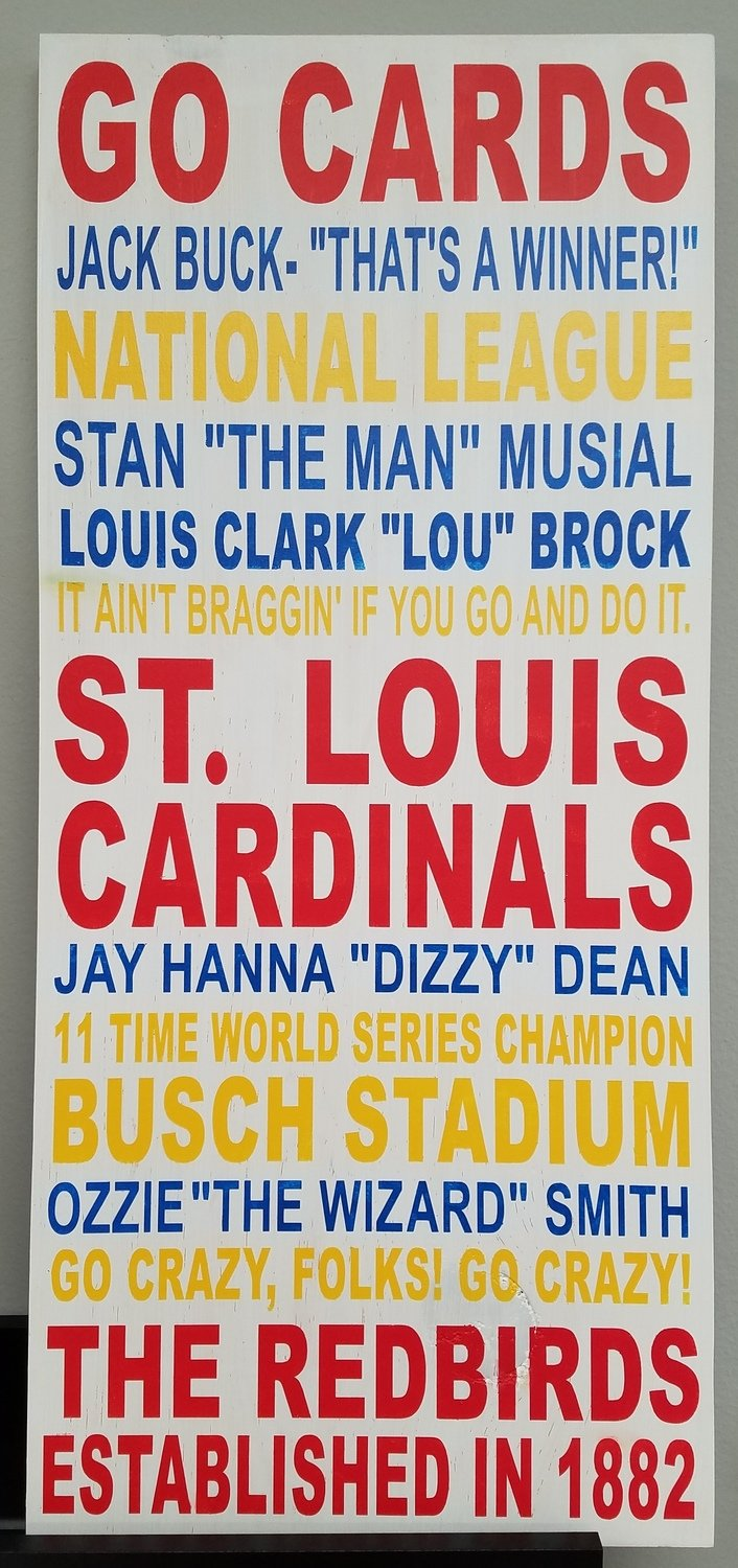 Cardinals Word Art