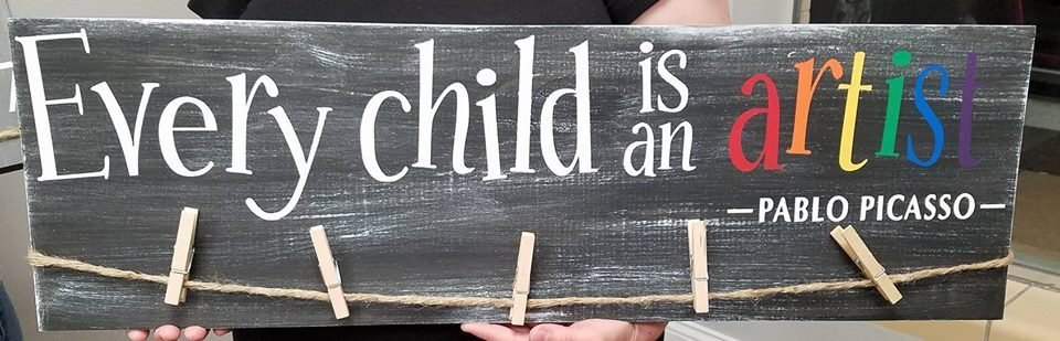 Every Child is an Artist Display