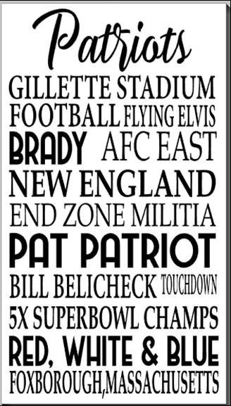 Patriots Word Art
