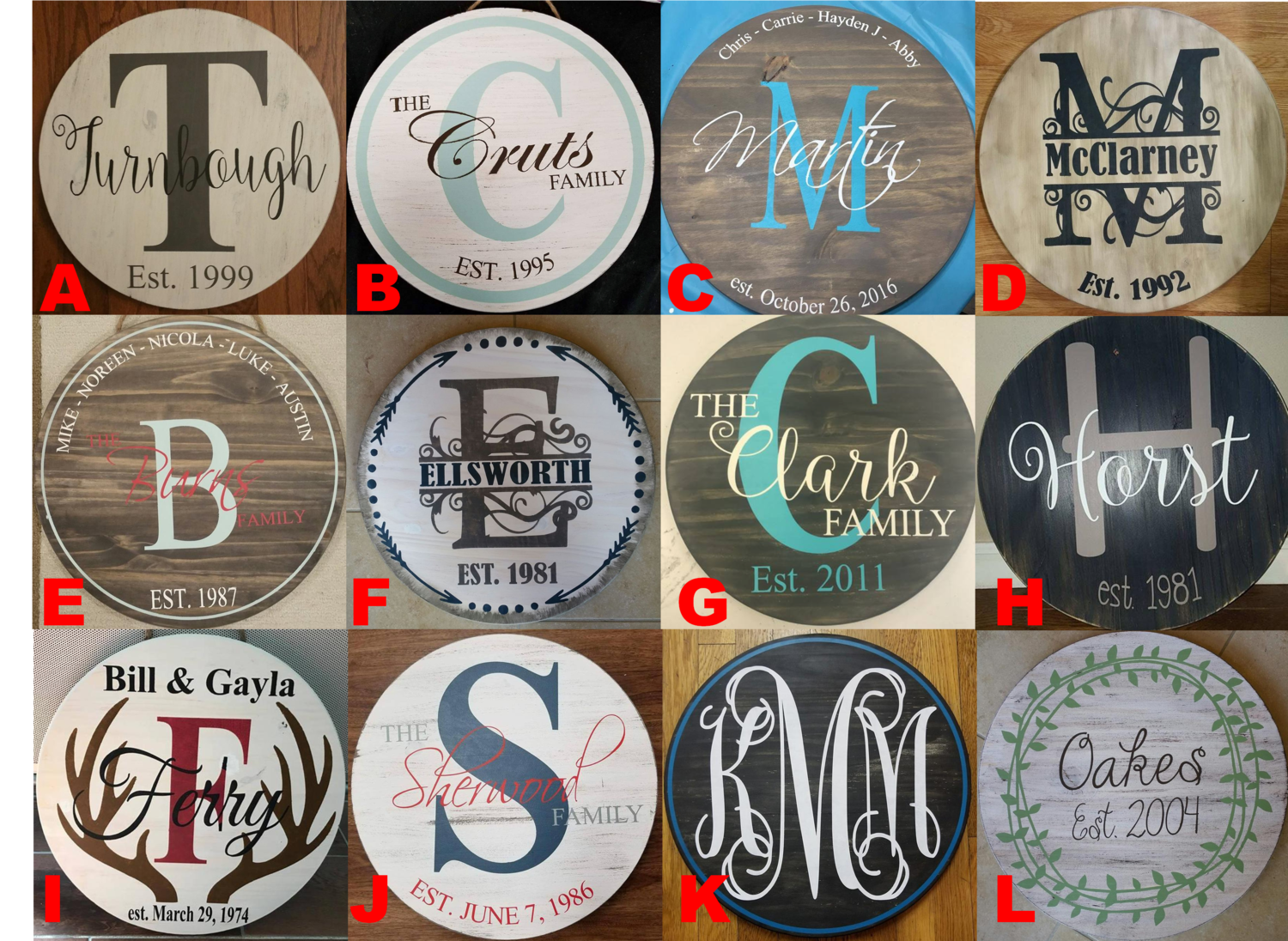 Personalized Round Sign
