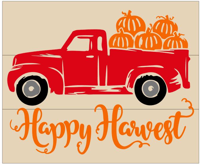 Happy Harvest Pumpkin Truck