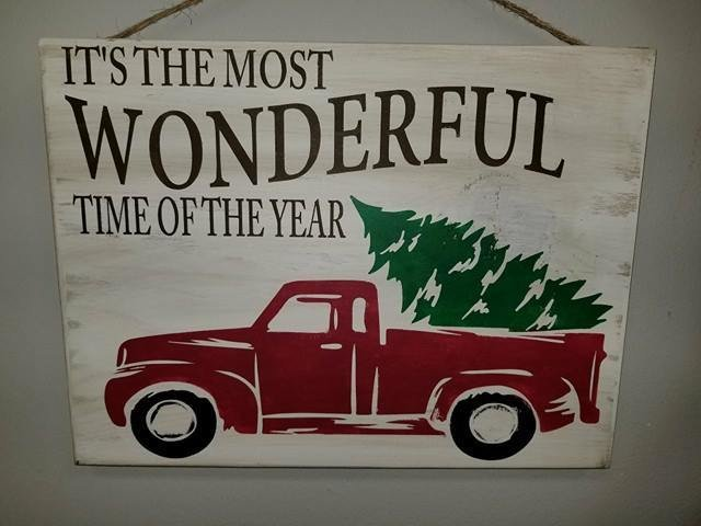 Most Wonderful Time Vintage Truck