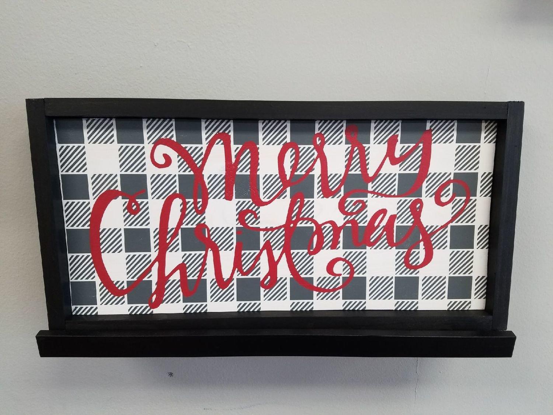 Merry Christmas Framed Sign