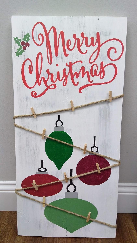 Merry Christmas Card Hanger