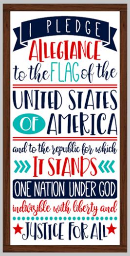 Pledge of Allegiance Framed