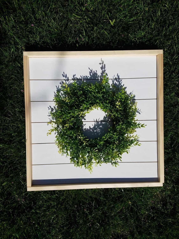 Framed Shiplap Wreath