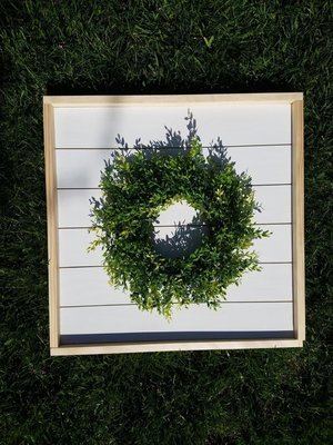 Framed Shiplap Wreath