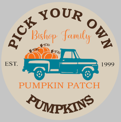 Pumpkin Patch Personlized Round
