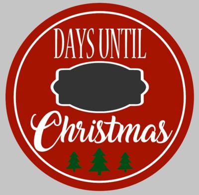 Round Days til Christmas Countdown