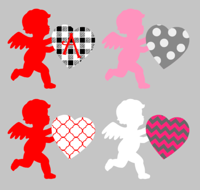 Cupid with 3D Letter