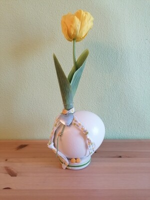 Vase Tulpe gelb
