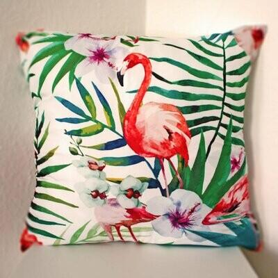 Housse de coussin Tropical Flamingo - Standard Lin
