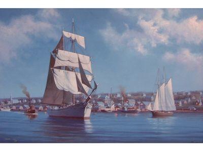 Port Hawkesbury by Moonlight, 1910