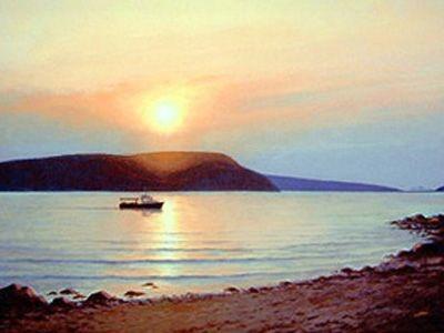 Sunset Over the Strait