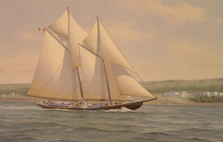 Bluenose II - -In the Strait